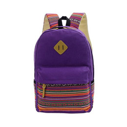 China Wholesale Women Backpack for School Teenagers Girls Vintage Stylish Ladies Backpack Female Purple Dotted Printing High Quality suppliers