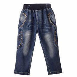Fashion kids jeans online shopping - Brand Retail Hot Sale Boys Denim Jeans With Fashion Beads Decoration Boys Pants Kids Clothing PT81016