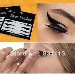 Autocollants Pour Les Yeux Pas Cher-5 feuilles / lot New Temporary Eye Tattoo Transfert Eyeliner Eyeliner Autocollant maquillage rock ELS-001