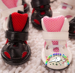 Cats Dogs Shoes NZ - Pet product for dogs black pink dog sport shoes winter leather dog boots shoes for cats