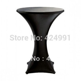 $enCountryForm.capitalKeyWord NZ - 10pcs Black Lycra dry bar cover Cocktail table cover &cloth for wedding event &party decoration