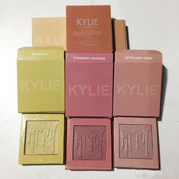Maquillaje De Algodón Baratos-NUEVO Kylie Kylighter Glow Kit Highlighter 6 colores Kylie Cosmetics French Vainilla Cotton Candy Salado Carmel Highlighter Glow Face Makeup