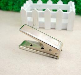 Sim Cut Cutter NZ - Wholesale-Designer New Standard Stainless Steel Micro SIM Cards Cutters To NANO Cut Crop Cutter For iPhone 5 5G + 2X Free Adapter