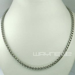 Mexican Link Chain NZ - White gold filled 50cm Length 3.8mm Thick ring link chain Necklace N240