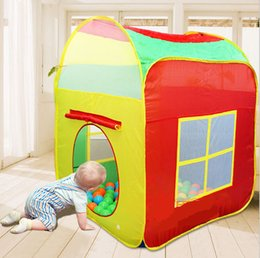 kids big tent house Canada - Big size Kids Play Tents Outdoor Garden Folding Portable Toy Tent Pop Up Multicolor Independent House Children Gift