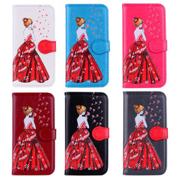 s6 edge girl cases 2019 - Sexy Girl Bling Glitter Leather Wallet Case For Galaxy S9 S8 S7 Edge (J7 J5 J3 A5)2017 S6 S5 Lady Flip Cover Dandelion S