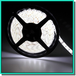 Wholesale 5050 smd led strip light single color pure cool warm white red blue leds m per pices for cabinet and display light shipping free