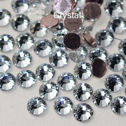Gros-2058HF 1440 pcs / lot Flatback strass colle base SS20 Hotfix strass cristal clair Hot Fix strass pour vêtements chaussures en Solde