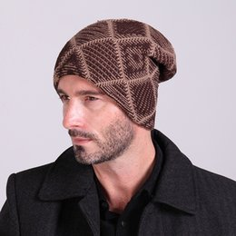 Nuovo 2015 inverno caldo plaid maglia cappelli Mens velluto lana turban Cap  autunno donna puntali in pile pile Skullies Berretti unisex bc6c8961da3b