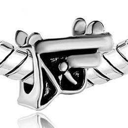 $enCountryForm.capitalKeyWord Canada - China Factory Children Playing Toys Pistol European Charm Beads For Pandora Charm Bracelet Christmas Best Gift