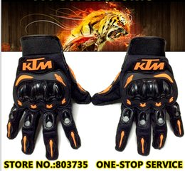 Wholesale KTM Brand Motorcycle Glove Full Finger Motocross Armor Guantes Motor Bicycle Gloves