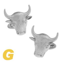 Marketing gold online shopping - High Quality New Classic Silver Copper Mens Wedding Cufflinks Novelty Rar e Fancy Bull Bullish Market Clean Cloth