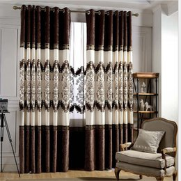 new cortinas para sala curtains for living long chenille tulle embroidery cloth fabric bedroom curtain