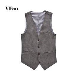 Venta al por mayor de Chaleco de traje sólido de los hombres 2015 recién llegado de Slim Fit diseñador de moda de la marca formal vestido de negocios chaleco E1643-Euro