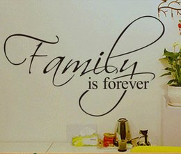 family quote decals Canada - family is forever home decor creative quote wall decals decorative adesivo de parede removable vinyl wall stickers