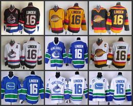 c020c874669 Vancouver Canucks Throwback 16 Trevor Linden Jersey Hockey Jerseys Vintage  Home Black Road