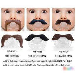 $enCountryForm.capitalKeyWord Canada - 20pcs lot Baby Funny Beard High Quality Europe Fashion Pacifiers Infant Boys Girls Cartoon Cute Mustache Soother Kids Feeding H2019