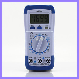 Pocket DMM Digital Multimeter A830L Ammeter Multitester Voltmeter Megohmmeter Ohmmeter hFE Current Tester with LCD Backlight on Sale