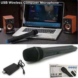 Computer Loudspeakers Canada - Free Shipping Top Quality USB FM VHF Wireless Microphone Mike Mic For Teaching Speaker Voice Amplifier Megaphone Loudspeaker Computer