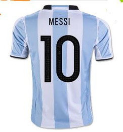 wholesale new 2018 argentina world cup soccer jersey 17 18 messi home di maria aguero thai