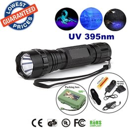 Discount torch flashlight charger - USA EU Hot Sel 501b 395nm Uv LED Flashlights Ore id Currency Passports Detector UV lamplight torches lamps with 18650 ba