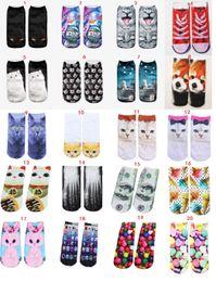 Discount fashion cat cartoon - 20 Styles Cat Cartoon Socks Women Hot Unisex socks Ladies Socks Original SuFeng Animal Food 3D Printing Ship Warm High q