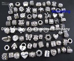 Vente en gros 100 pcs perles charmes Mélanger 29 Style Grand Trou Perle Lâche Charme Pour Pandora DIY Bijoux Bracelet Pour Européen