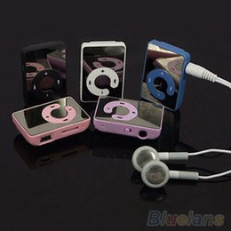Wholesale Mini Clip USB MP3 Music Media Player Support 1-8GB Micro SD TF + Headphone + Cable 4QCL