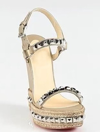 Wedge Leather Sandals Canada - Custom Made Wedge Heels Buckle Strap Back Rivets Cheap Modest Fashion Womens Sandals Bridal Accessories New Arrive Hot 2016 Summer Sandals