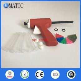 Liquid Syringe Canada - 10ML manual syringe gun  Epoxy Caulking Adhesive Gun single liquid glue gun dispense gun with full parts