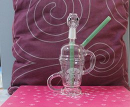 sandblasted water bongs NZ - Limited Edition Dabuccino dab sandblasted 14.5mm Dabuccino Recycler Glass similar with Hitman Glass x Evol Glass Sand Blast Bongs Water Pipe