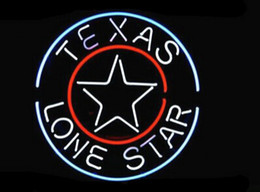 "neon sign star NZ - Texas Lone Star Neon Sign Beer Bar KTV Club Pub Custom Handcrafted Real Glass Tube Advertisement Display Neon Signs 16""X16"""