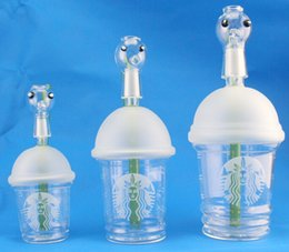 $enCountryForm.capitalKeyWord Canada - 2015 popular Dabuccino rig Sandblasted Starbuck Cup Dab Concentrate Oil Rig Glass Bongs 10mm 14.5mm 18.8mm Glass Dome and Nail