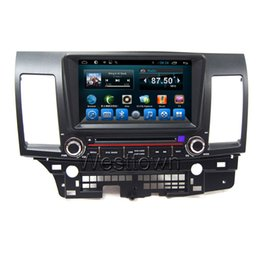 China Double din android car dvd player sat nav navigation system with radio 3g wifi bluetooth audio fit for Mitsubishi Lancer EX suppliers