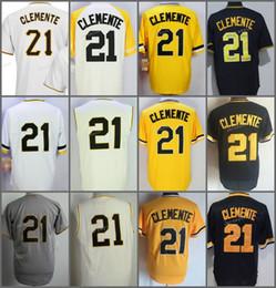 547ae5326 ... Flexbase Pittsburgh Pirates 21 Roberto Clemente Home Away Jersey Yellow  Grey Cream White Black Camo Green Roberto Clemente Authentic Jersey Majestic  ...