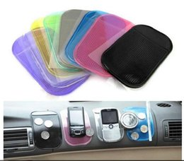gel mat for gps UK - Good Quality Powerful Silica Gel Magic Sticky Pad Holder for Car Non Anti Slip PU Mat Washable for Phone Glasses GPS DHL Shipping