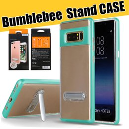 cellphone back case for samsung NZ - For Samsung Note 10 S10e S10 Plus Kickstand Cellphone Case Ultra Slim Hybrid TPU Clear Back Hard PC Bumper Shell with Retail Packaging