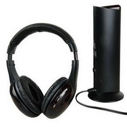 Wireless Headphone Tv Canada - 5 in 1 DJ Gaming HiFi Wireless Headphone Earphone Headset FM Radio Monitor MP3 PC TV Mobile Phones Headphones DHL