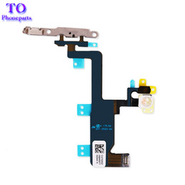 iphone power volume button flex 2020 - 100PCS Power Button Volume Switch On Off Flex Cable With Metal Brackets For iphone 6 6G 6 plus Free Shipping discount ip