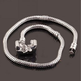 Snake Chain 23cm Canada - 16 to 23cm 925 Sterling Silver Plated Snake Chain Bracelet Fit European Beads With 925 50pcs lot Free Shipping