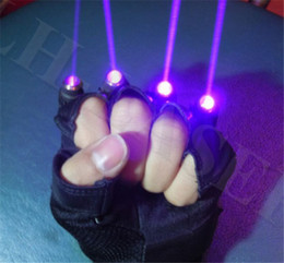 Wholesale star show resale online - laser gloves Christmas green star laser glove for party dj show Halloween Christmas outdoor party dance show