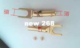 speaker spades NZ - 20 Pair copper Speaker Banana Spade Plug Screw Type Gold Plated connector