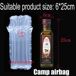 Großhandel Aufblasbare Luftstausack (Dia.6 * H25cm) Air Cushion-Säule (3 cm) Buffer-Tasche Schützen Sie Ihr Produkt Fragile Waren