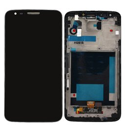 China Wholesale-For LG Optimus G2 D800 D801 D803 FULL LCD Display Panel Touch Screen Digitizer Glass Assembly With Frame Replacement cheap lg g2 touch panel suppliers