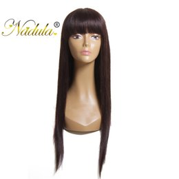 Durable remy hair online shopping - Nadula None Lace Long Straight Silky Human Hair Wigs For Black Women with Baby Hair Remy Hair Natural Durable New Fashion