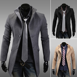 Mens Long Grey Coat Online | Long Grey Trench Coat Mens for Sale