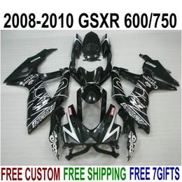 $enCountryForm.capitalKeyWord Australia - High quality ABS fairing kit for SUZUKI GSXR750 GSXR600 2008-2010 K8 K9 glossy black Corona fairings set GSXR600 750 08 09 10 FA33