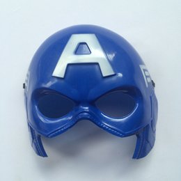 Costume De Super-héros Pvc Pas Cher-Superhero masque d'Halloween Costume univers Marvel Captain America enfant Masquerade Parti Eye Mask Hero Cosplay Peluche Eye