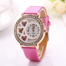 Wholesale Fashion Women s Round Dial Analog Dress Watch with Crystals Beads Decoration Rhinestone Color
