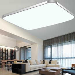 Discount rectangular ceiling lights - 12 23 24 68 72 144W Aluminum LED ceiling light Alloy&PAMMA Acrylic Lamp Body,Rectangular&Square Shape Energy-saving,5730